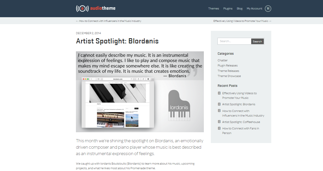 Artist Spotlight: BIordanis, December 2, 2014 by Audiotheme (1-5)